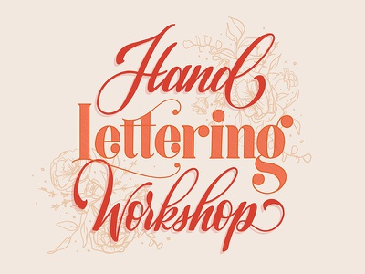 Hand Lettering Workshop ipad illustration handdrawn hand lettering script ipad lettering illustration handlettering lettering calligraphy drawing design typography type