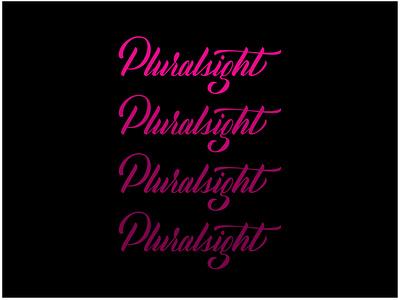 Pluralsight Script script ipad lettering hand lettering vector calligraphy lettering handlettering design typography type
