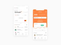 Unibank. Banking application. amount mobile banking income expenses mobile finance app finance card credit card banking fintech app bank app application mobile app