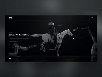 Westworld. Main Screen. ui design web series tv westworld hbo concept