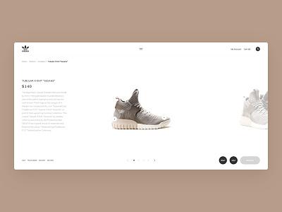 "Tubular X Knit ""Sesame"". Slider. sneakers design tubular slider ui web clean clear sketch adidas"