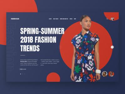 Fashion Blog. Concept #1. magazine concept design web ui ux fashion