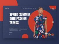 Fashion Blog. Concept #1.