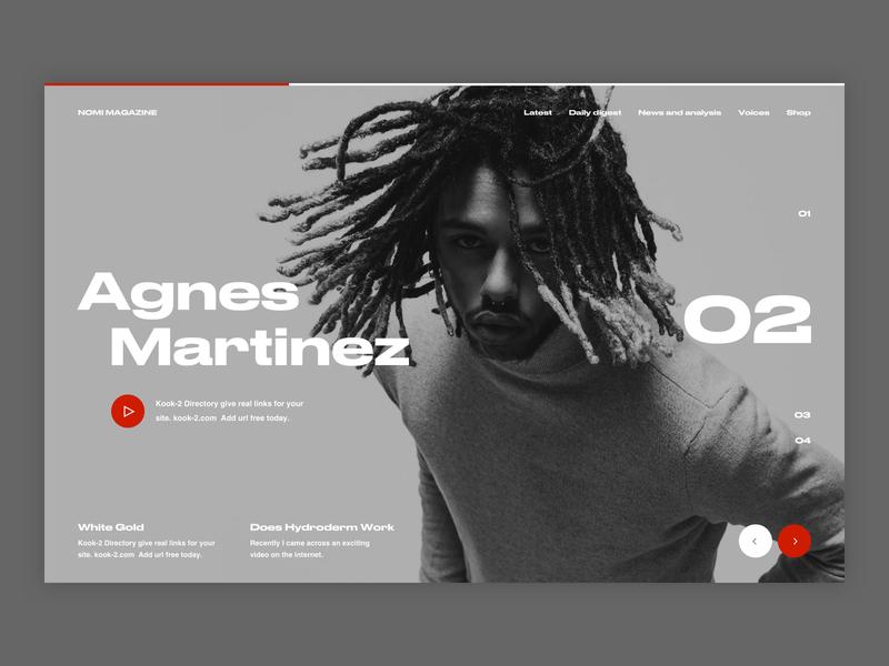 Nomi Magazine. Concept. design minimal magazine typography web concept ux ui