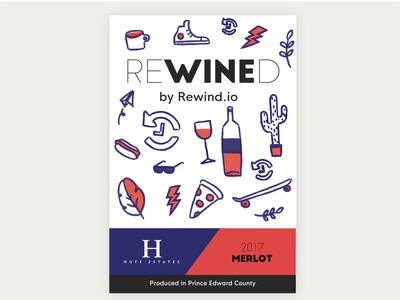 Rewind.io Wine Label