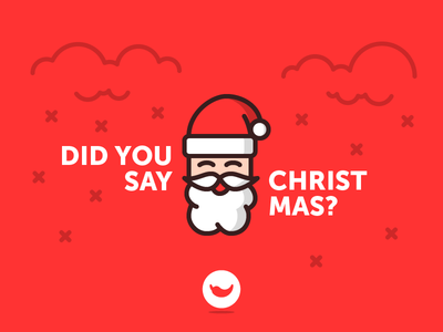 """Have I heard """"Christmas is coming""""? good old man beard cloud snow icon icons spicy red santa claus christmas"""