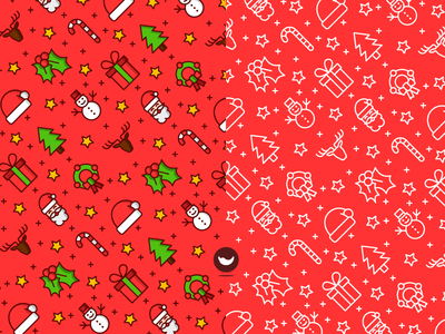 Seamless Christmas Pattern color outline spicy icons icon snowman raindeer santa claus pattern semaless christmas