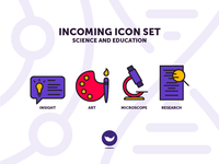 Education and Science Icon Set - Part two