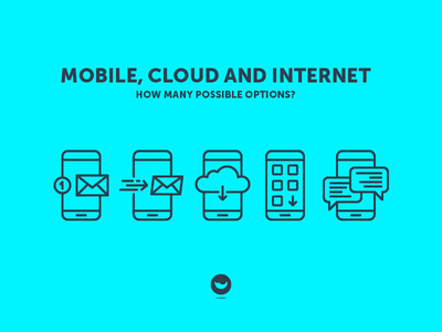 Mobile, Cloud And Internet download message email app spicy icons set icon internet cloud mobile