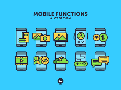 Mobile Functions spicy icons icon internet messager game weather gps gallery function phone app mobile