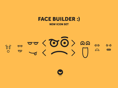 Face Builder - New icon set! expression spicy icons icon set icon emoji eye mouth smile face