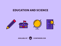Education and Science Icon Set - Part three