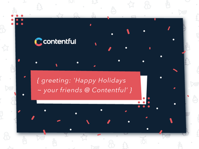 Xmas greeting card in JSON