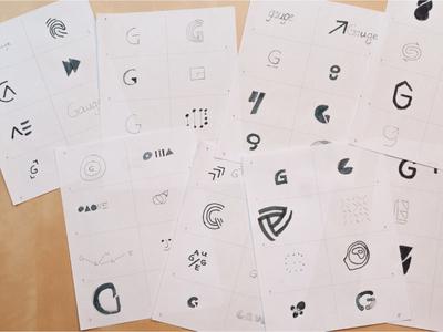 Gauge Mark Sketches sketches pencil pen mark logo half gauge g exploration circle