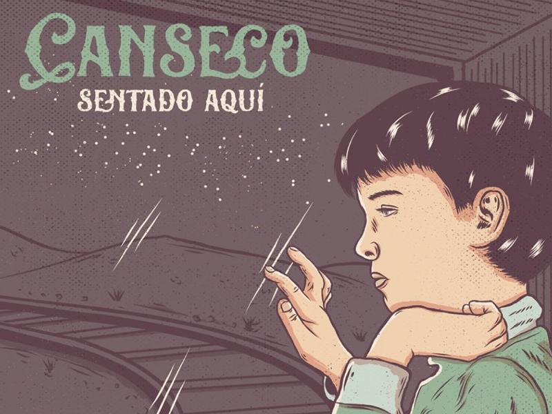 Canseco - Sentado aquí artwork single canseco