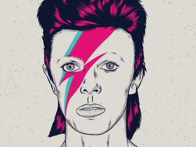 David Bowie portrait illustration david bowie