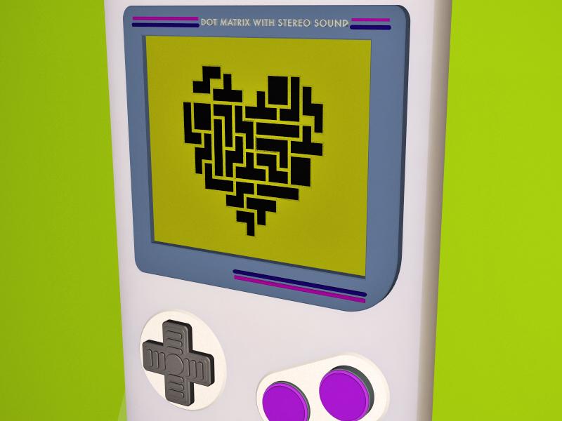 Complete my heart heart 3d gameboy tetris c4d