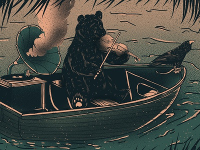 Andrew Bird Gig Poster illustration folk gig poster andrew bird