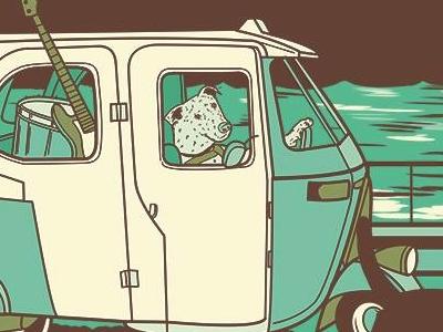 Kanaku y el Tigre Gig Poster peru gig poster folk lima kanakuyeltigre
