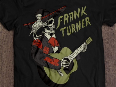 Frank Turner Tee Mx t-shirt black bear clothing folk punk mexico tee frank turner