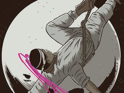 Boveda Celeste Poster 10 Years illustration pachuca papantla space voladores boveda celeste