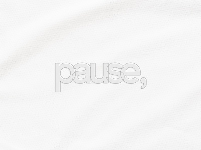 Pause brand art clean branding vector ui typography type minimal logo lettering illustrator illustration identity icon design