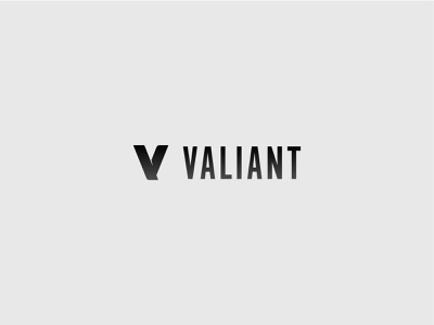 Valiant Brand Identity flat clean branding brand vector typography type minimal logo lettering illustrator illustration identity icon design