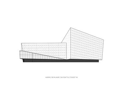 Harpa conference concert hall graphic design grey vector house building illustration lines music venue design architecture city harpa reykjavik iceland