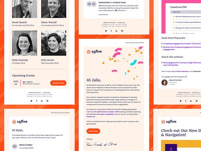 15Five Emails 15five rebrand email design