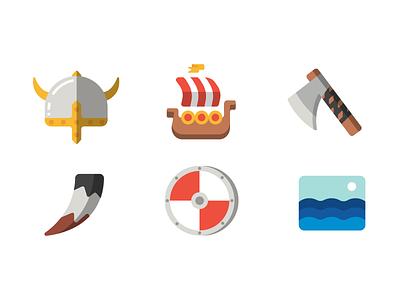 Viking Icons vikings icons illustration vector