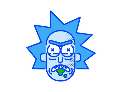 Rick illustration vector digital illustration halftone rick and morty rick sanchez