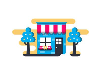 Small Biz small business shop illustration vector