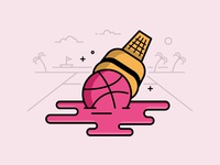 Dribbble Ice Cream Sticker