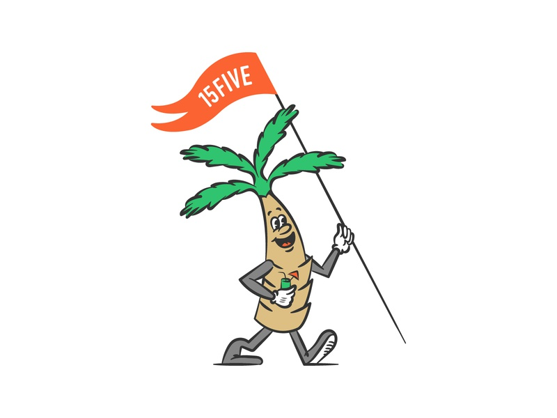 🌴 🌴 🌴 illustration palm springs mascot palm tree