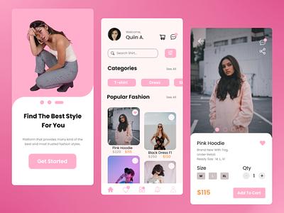 """Fashion Store App (Mobile)"" uimobile e-commerce designerindonesia uiuxindonesian uiux mobileapp ui odamachallenge01"