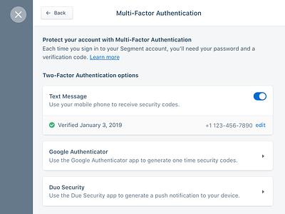 Multi-factor authentication mfa security ui