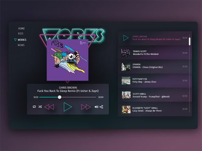 Music Player For Personal Page