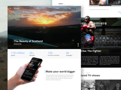 Discovery Channel Homepage Concept