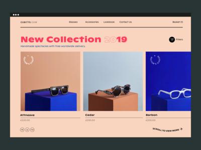 Glasses Shop Website