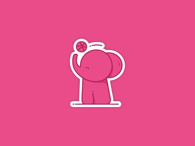 Seeing pink elephants