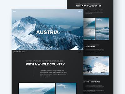 Jerk - Internal Page minimal black partnership web design inner page austria ski mountain dark landing layout design website interface clean ux ui