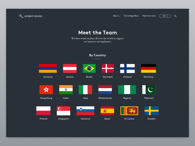 pa_web_03 page key flat project access nationalities countries ui ux web education