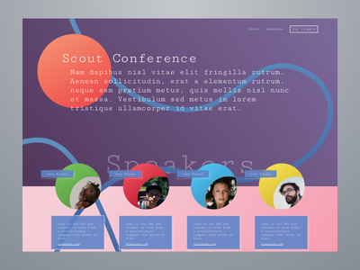 conference_03 landing speakers geometric gradient shapes web ux scout design conference branding