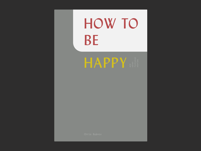 how_to muted happy happiness depression print book