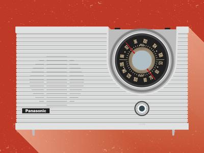 Panasonic RE-6192 60s vintage radio poster illustration