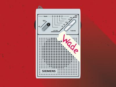 Siemens Rt711 deadpool 80s vintage radio poster wade wilson illustrator
