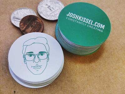 Josh Kissel Self Promotion Coins illustration line art self promotion website selfie