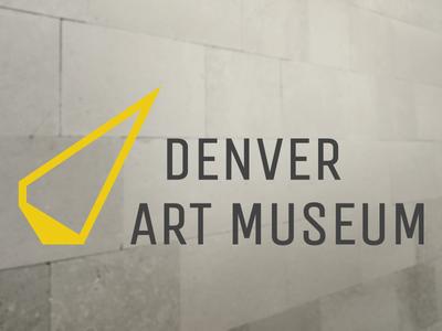 Denver Art Museum Logo Concept denver art museum angle pointy rebrand museum yellow concept logo