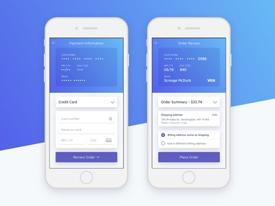 Credit Card Checkout Daily UI 002 credit card checkout mobile stripe ui gradient blue 002 dailyui