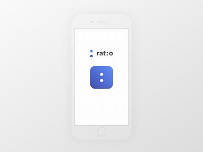 Rat:o App Icon ratio aspect ratio gradient ui mobile icon app 005 dailyui
